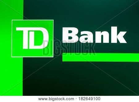 Td Bank Exterior Sign And Logo