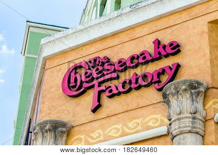 The Cheesecake Factory Exterior And Logo