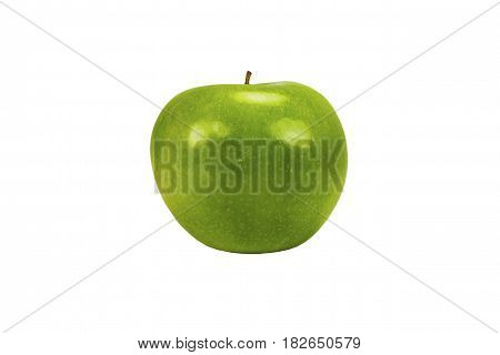 Shiny Green apple isolated on white background