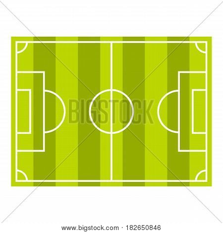 Soccer field or football grass field icon flat isolated on white background vector illustration