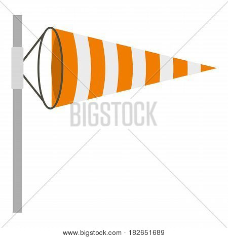 Wind direction indicator icon flat isolated on white background vector illustration