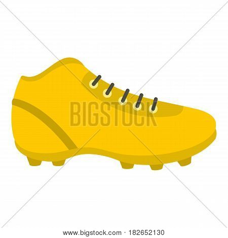 Football or soccer shoe icon flat isolated on white background vector illustration