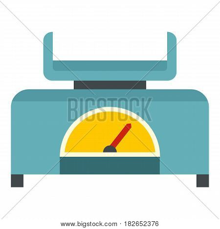 Mechanical scales icon flat isolated on white background vector illustration