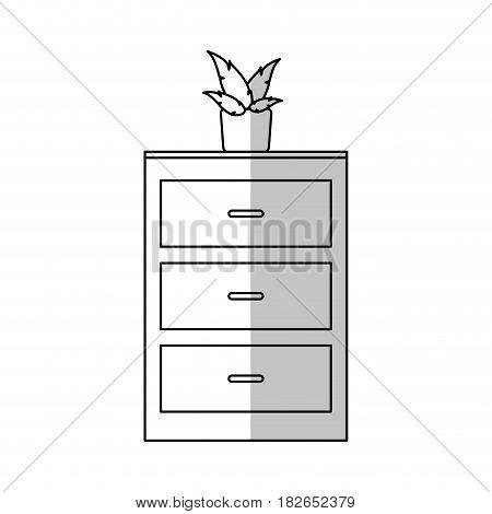 drawer icon over white background. vector illustration