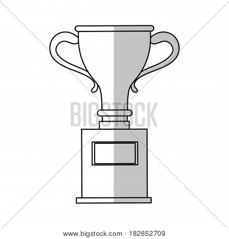 trophy icon over white background. vector illustration
