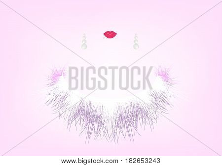 Beauty Concept, Natural Cosmetic, beauty salon, jewellery , woman Silhouette, Vector illustration