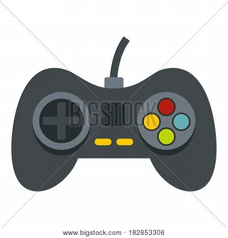 Video game controller icon flat isolated on white background vector illustration