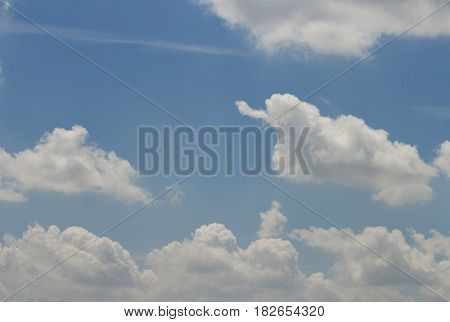 clound and blue sky in day noon for nature background.