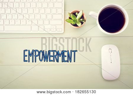 Empowerment Concept With Workstation