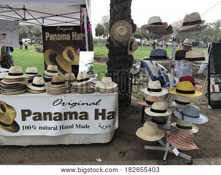 DUBAI, UAE - FEB 24: The Ripe Market at Zabeel Park in Dubai, UAE, as seen on Feb 24, 2017. Exhibits include local passionate businesses including foodies, artisans, designers, jewelers and in town.
