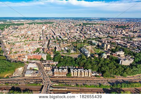 Aerial View Of The Bronx, Ny