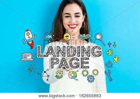 Landing Page Text With Young Woman
