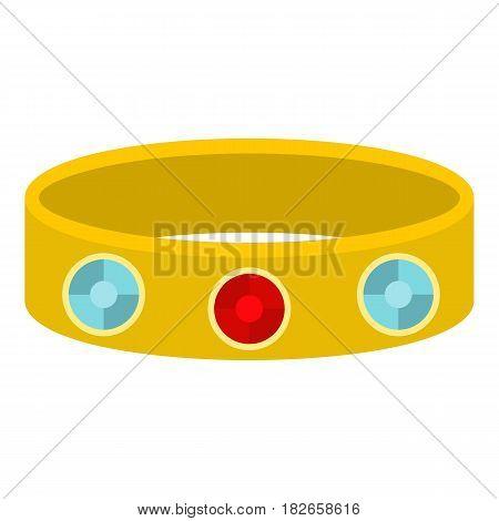 Vintage gold bangle icon flat isolated on white background vector illustration