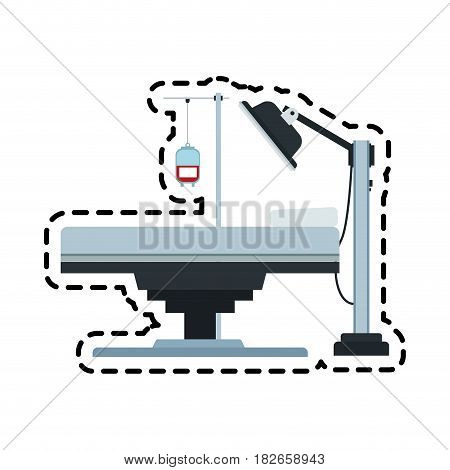 gurney or hospital bed icon image vector illustration design