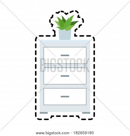 archive office icon image vector illustration design