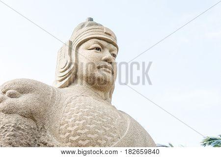 Fujian, China - Dec 31 2015: Zheng Chenggong Statue At The Zheng Chenggong Memorial Hall. A Famous H