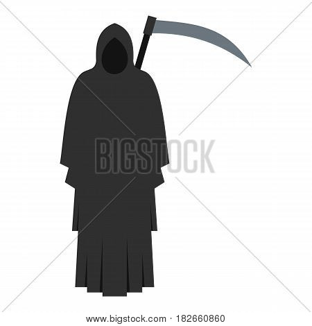 Grim reaper icon flat isolated on white background vector illustration
