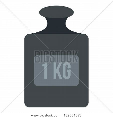 Weight 1 kg icon flat isolated on white background vector illustration