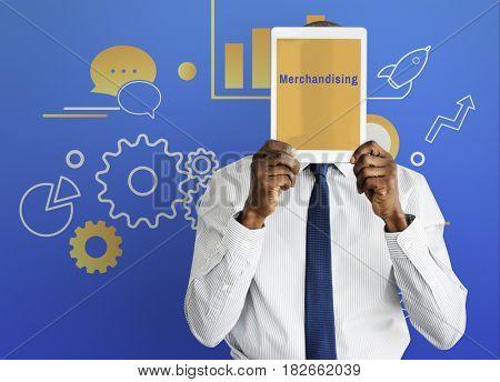 Business Strategy Management Merchandising Illustration