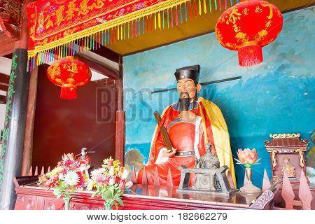 Fujian, China - Dec 29 2015: Cai Xiang Statue At Cai Xiang Temple. A Famous Historic Site In Quanzho