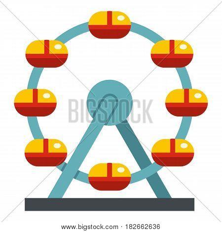 Huge ferris wheel, Canada icon flat isolated on white background vector illustration
