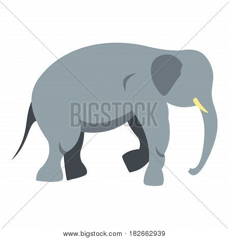Elephant icon flat isolated on white background vector illustration