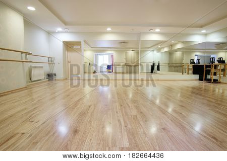 Interior of a sport and dancing hall