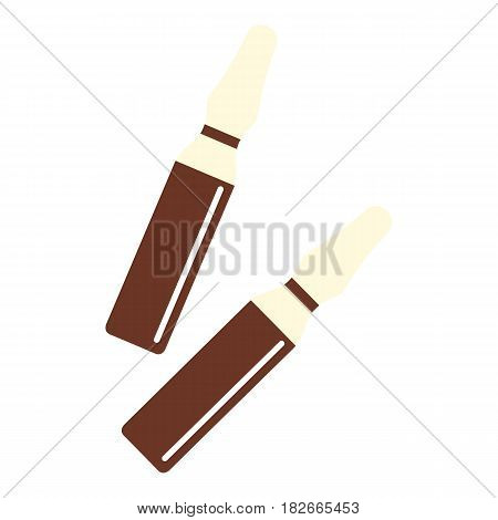 Iodine sticks icon flat isolated on white background vector illustration