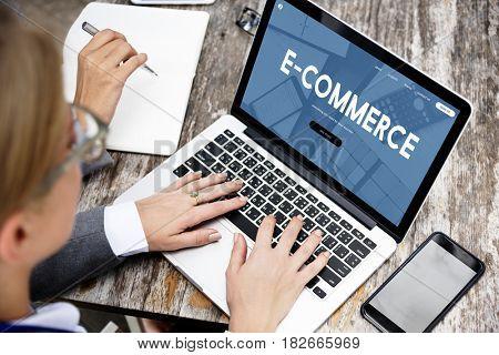 E-commerce Business Digital Marketing Word