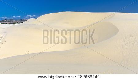 Amazing the desert White Sand Dune in Mui Ne, Vietnam