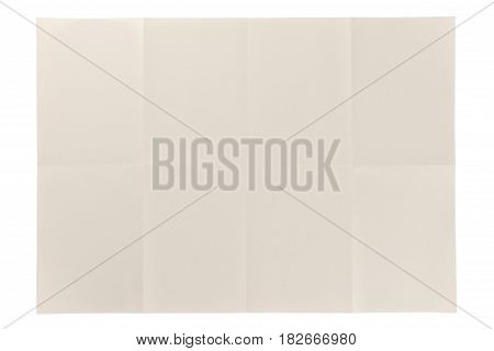 table folded eye care paper 2 by 4 cell isolated on white background, eye care paper is naturally color base paper for comfortable reading.