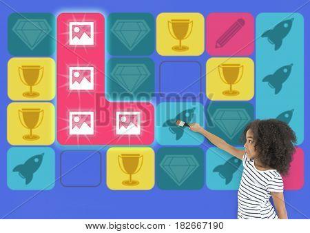 Gallery Spaceship Diamond Matching Game