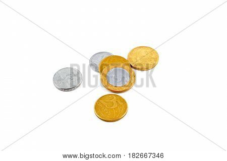 Brazilian Real Currency Coins