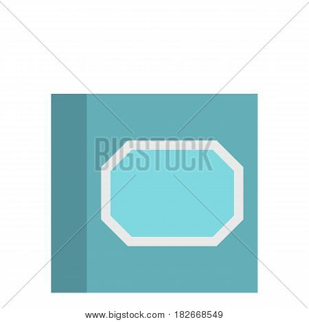 White plastic paper clips in container icon flat isolated on white background vector illustration