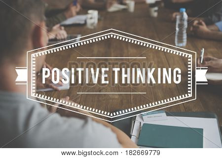 Positive Thinking Optimistic Mindset Word