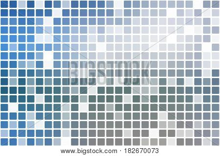 White blue shades occasional opacity vector square tiles mosaic over white background