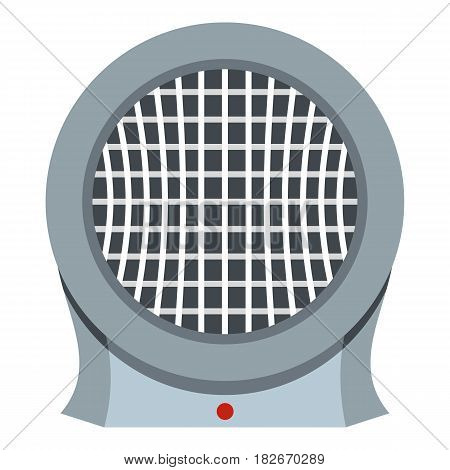 Portable electric heater icon flat isolated on white background vector illustration