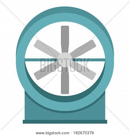 Metal electric fan icon flat isolated on white background vector illustration