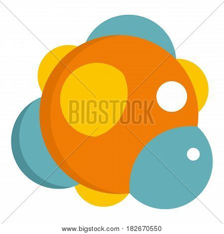 Group of atoms forming molecule icon flat isolated on white background vector illustration