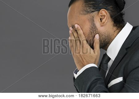 Businessman stress expression