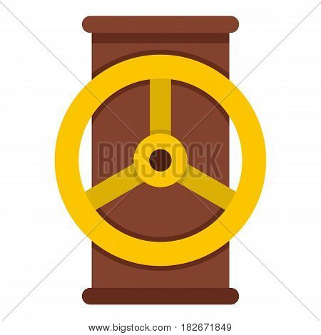 Valve icon flat isolated on white background vector illustration