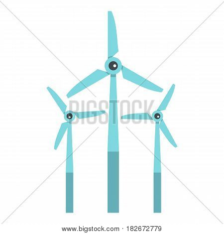 Windmill icon flat isolated on white background vector illustration