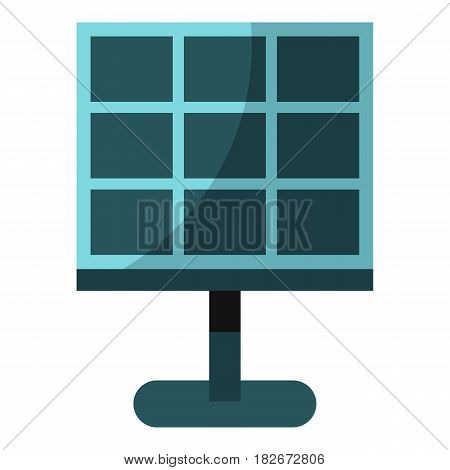 Solar battery icon flat isolated on white background vector illustration