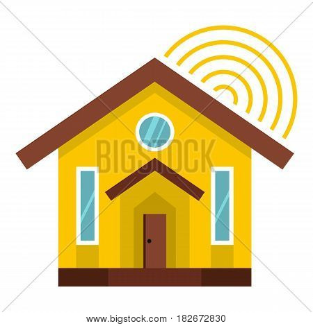 House icon flat isolated on white background vector illustration