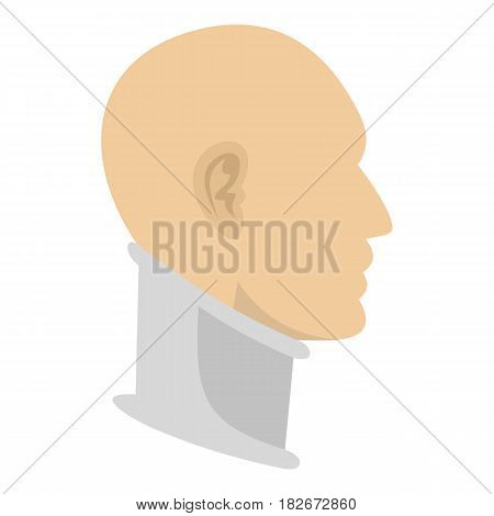 Cervical collar icon flat isolated on white background vector illustration