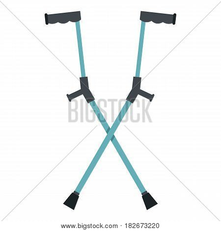 Other crutches icon flat isolated on white background vector illustration
