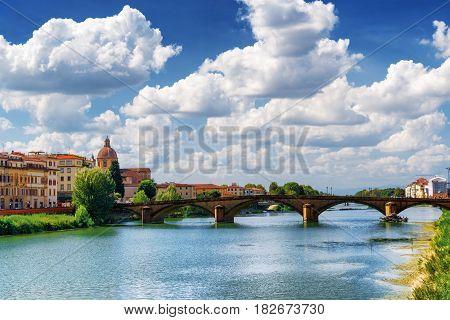 The Ponte Alla Carraia Over The Arno River, Florence, Italy