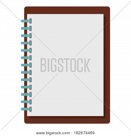 Sketchbook icon flat isolated on white background vector illustration