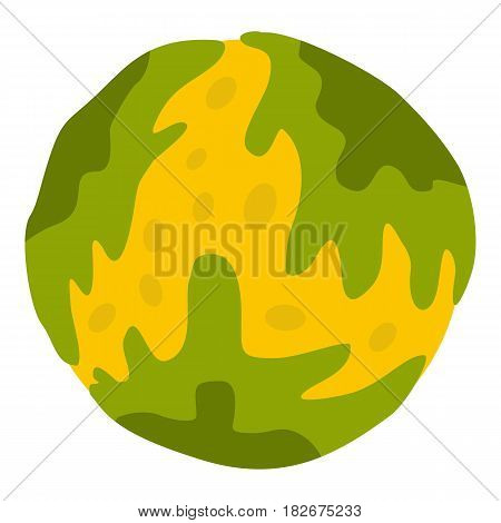 Little planet icon flat isolated on white background vector illustration
