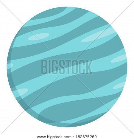 Big planet icon flat isolated on white background vector illustration